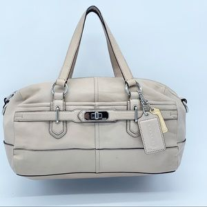 Coach blush  pink leather Chelsea Reese satchel